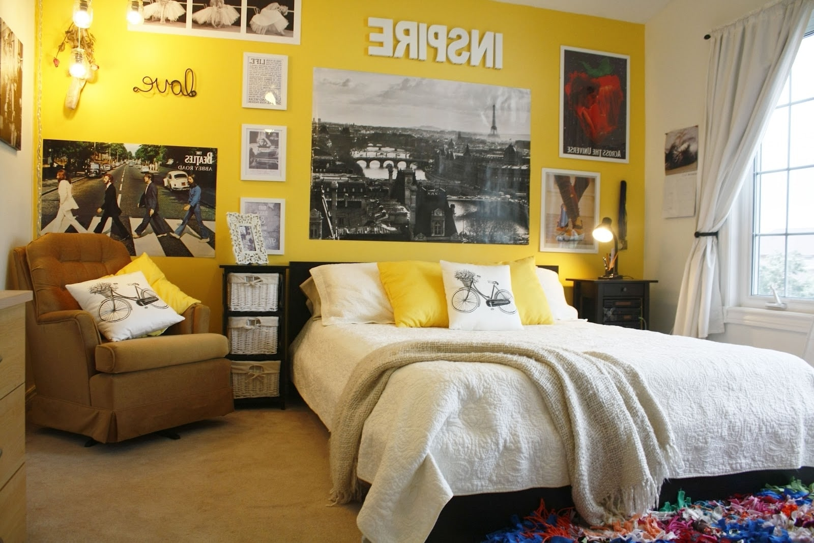 Girly Teenage Room Yellow
