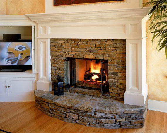 45 fotos de chimeneas r sticas perfectas para tu hogar - Ver chimeneas rusticas ...