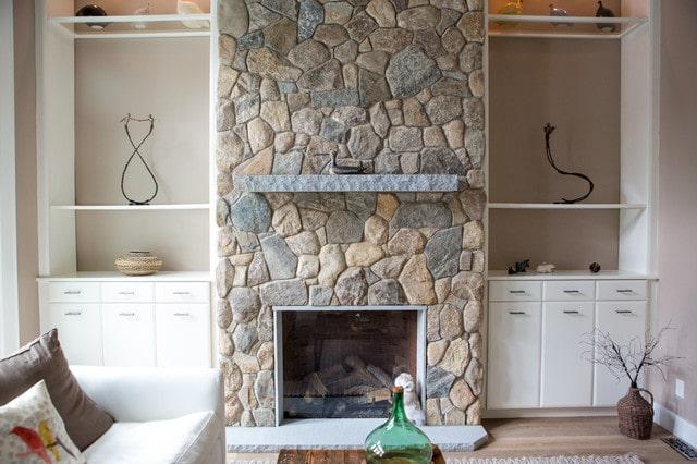 chimenea rustica piedra