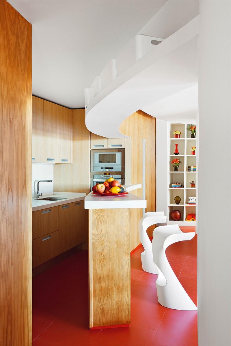 cocina lujosa madera
