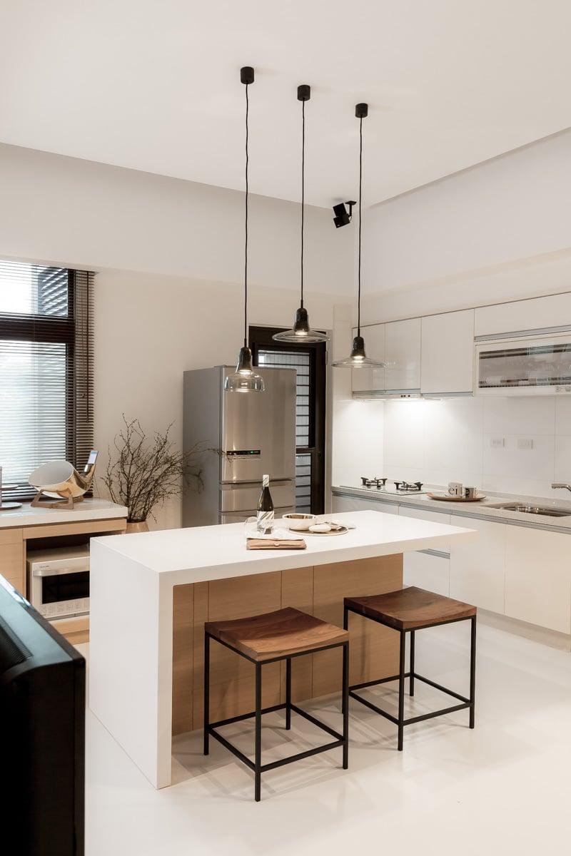 Cocinas modernas 50 fotos desde sencillas a for Modelos de cocinas americanas en espacios pequenos