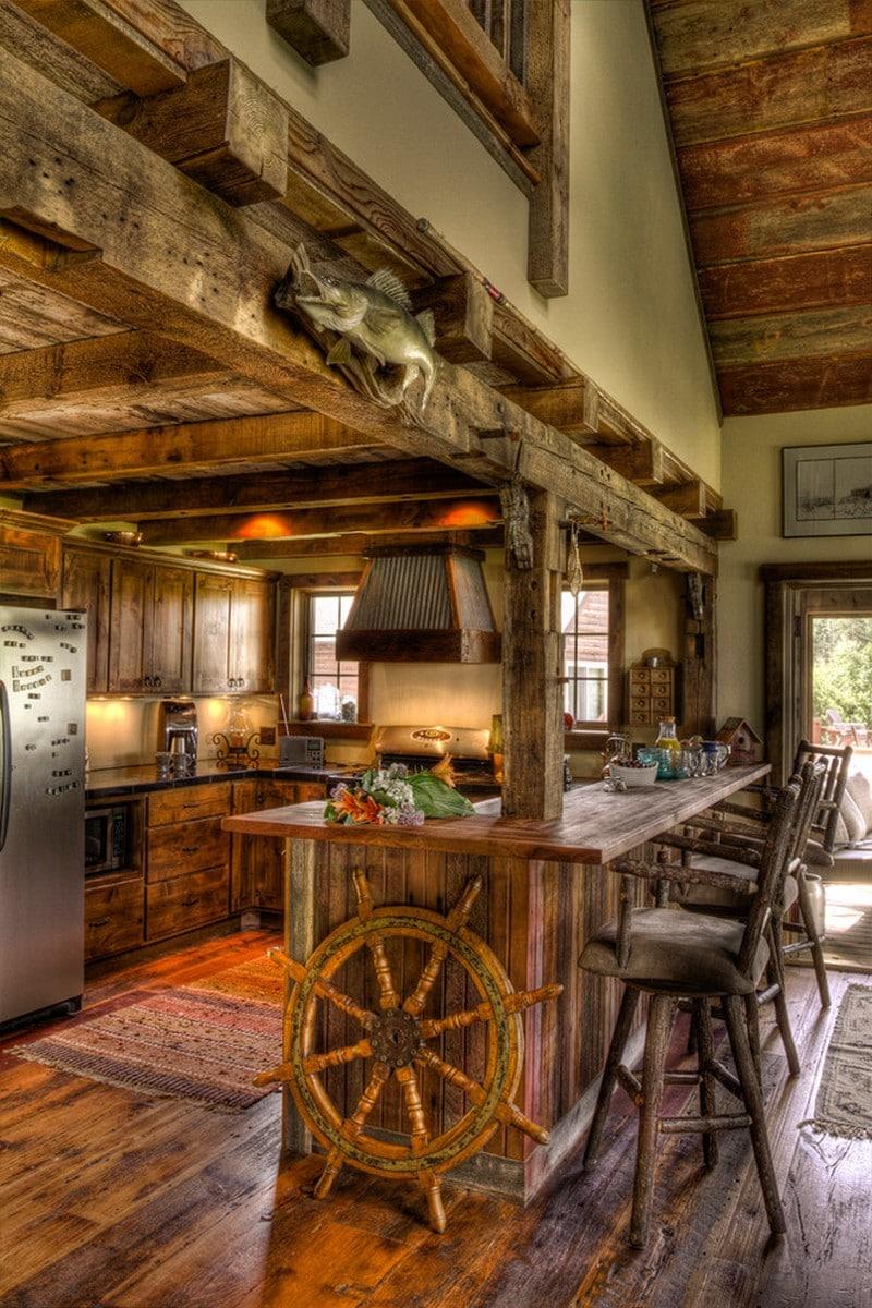 Cocinas modernas 50 fotos desde sencillas a for Pisos de cocinas rusticas
