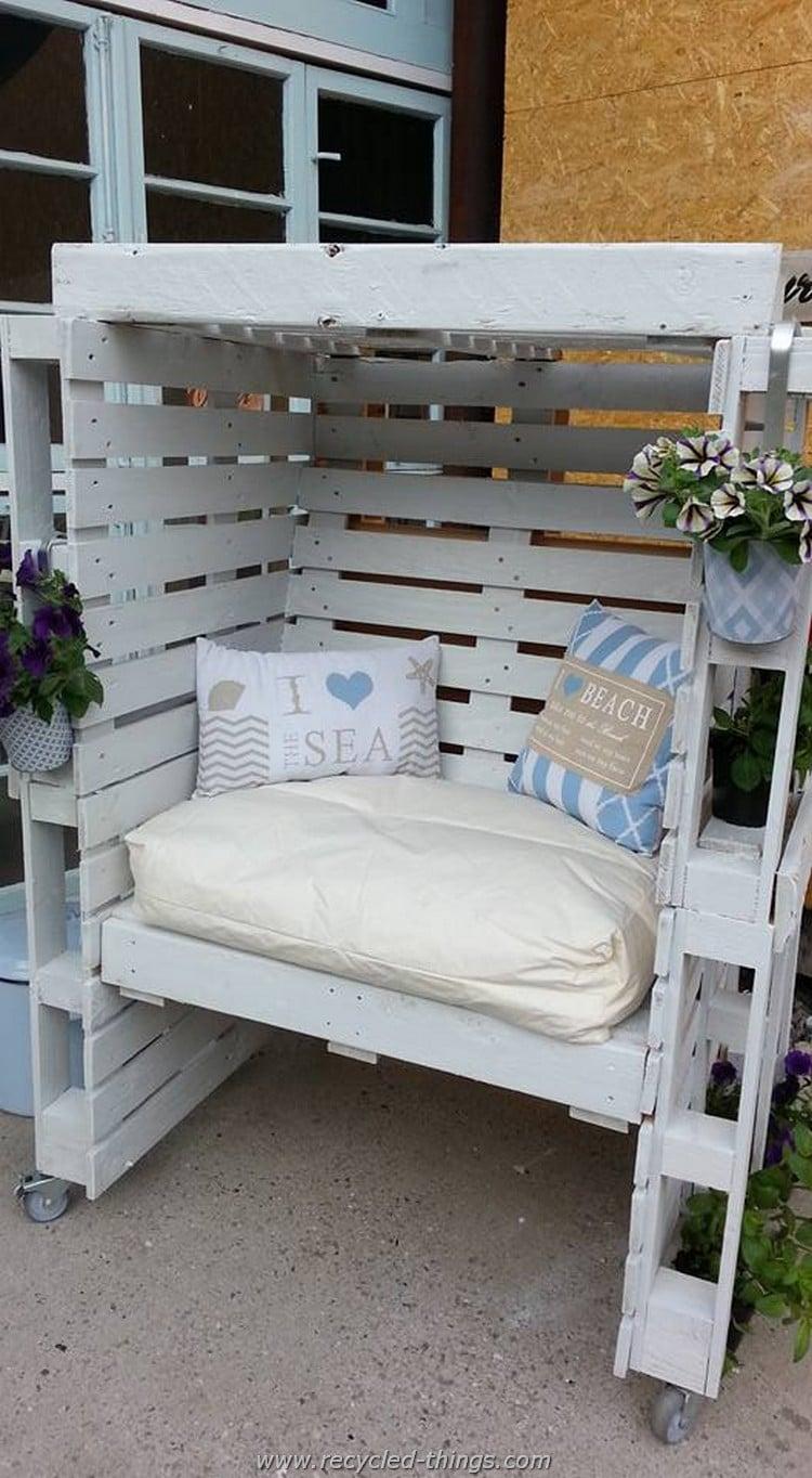 100 dise os de muebles con palets para interior y exterior for Asientos terraza