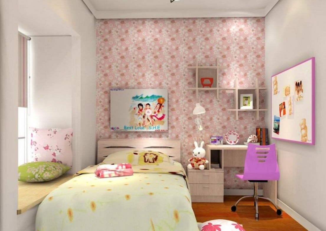 Habitaciones juveniles originales 80 ideas para tus hijos estreno casa Wallpaper for teenage girl bedroom