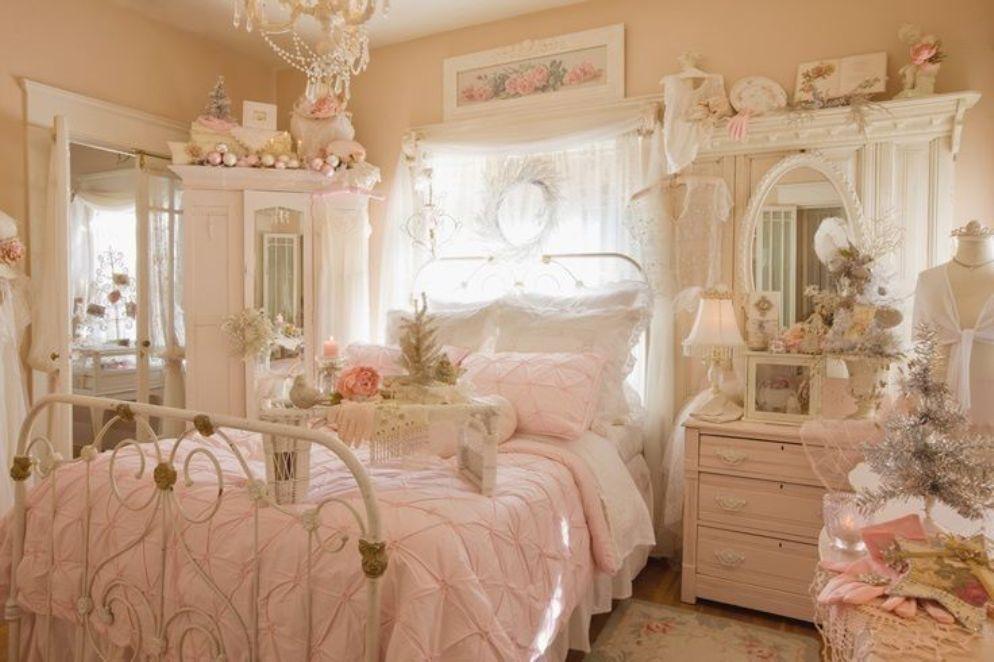 50 habitaciones vintage que te encantar n estreno casa - Dormitorio shabby chic ...