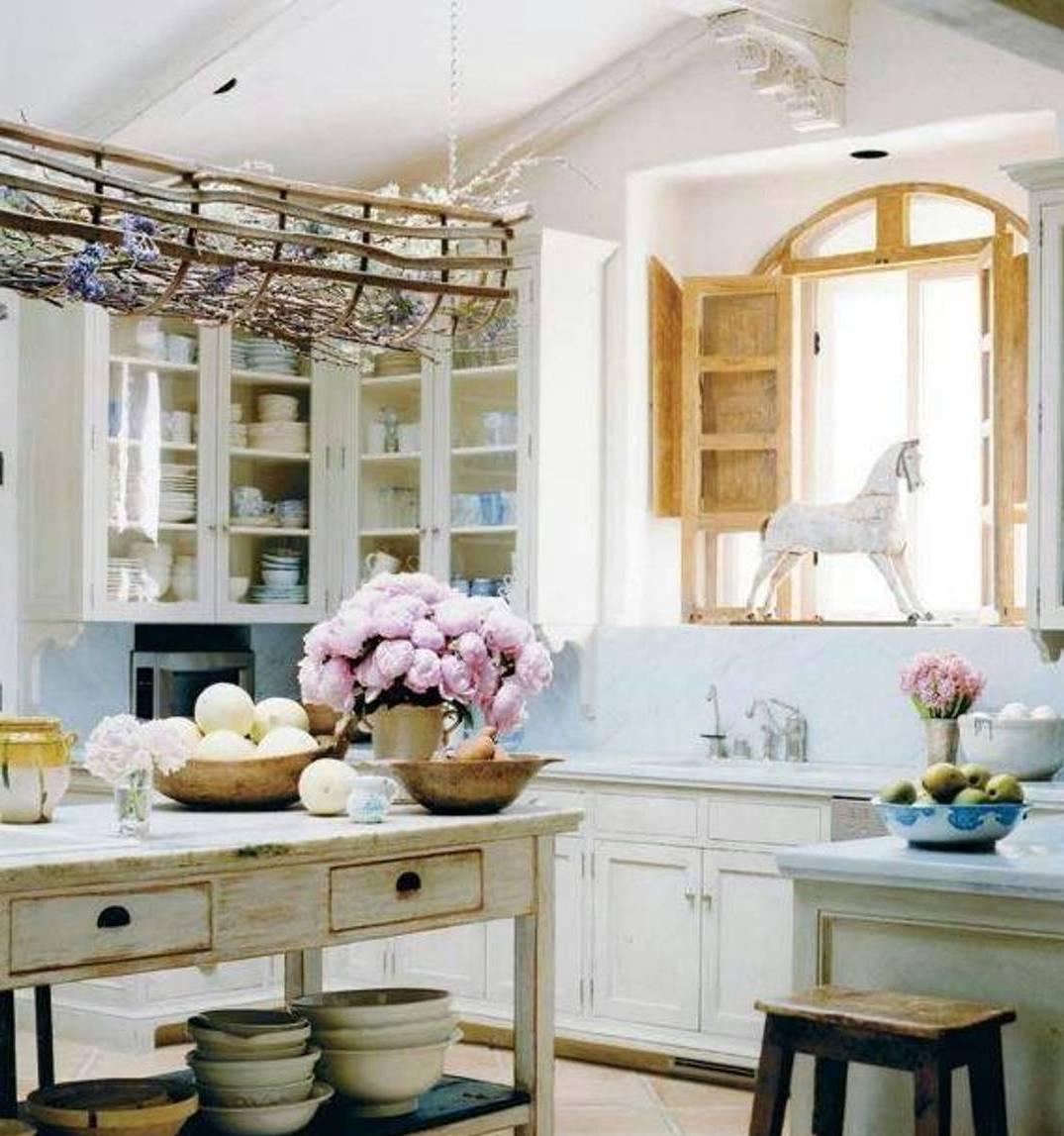 30 fotograf as de maravillosas cocinas con isla estreno casa - Cocinas estilo shabby chic ...