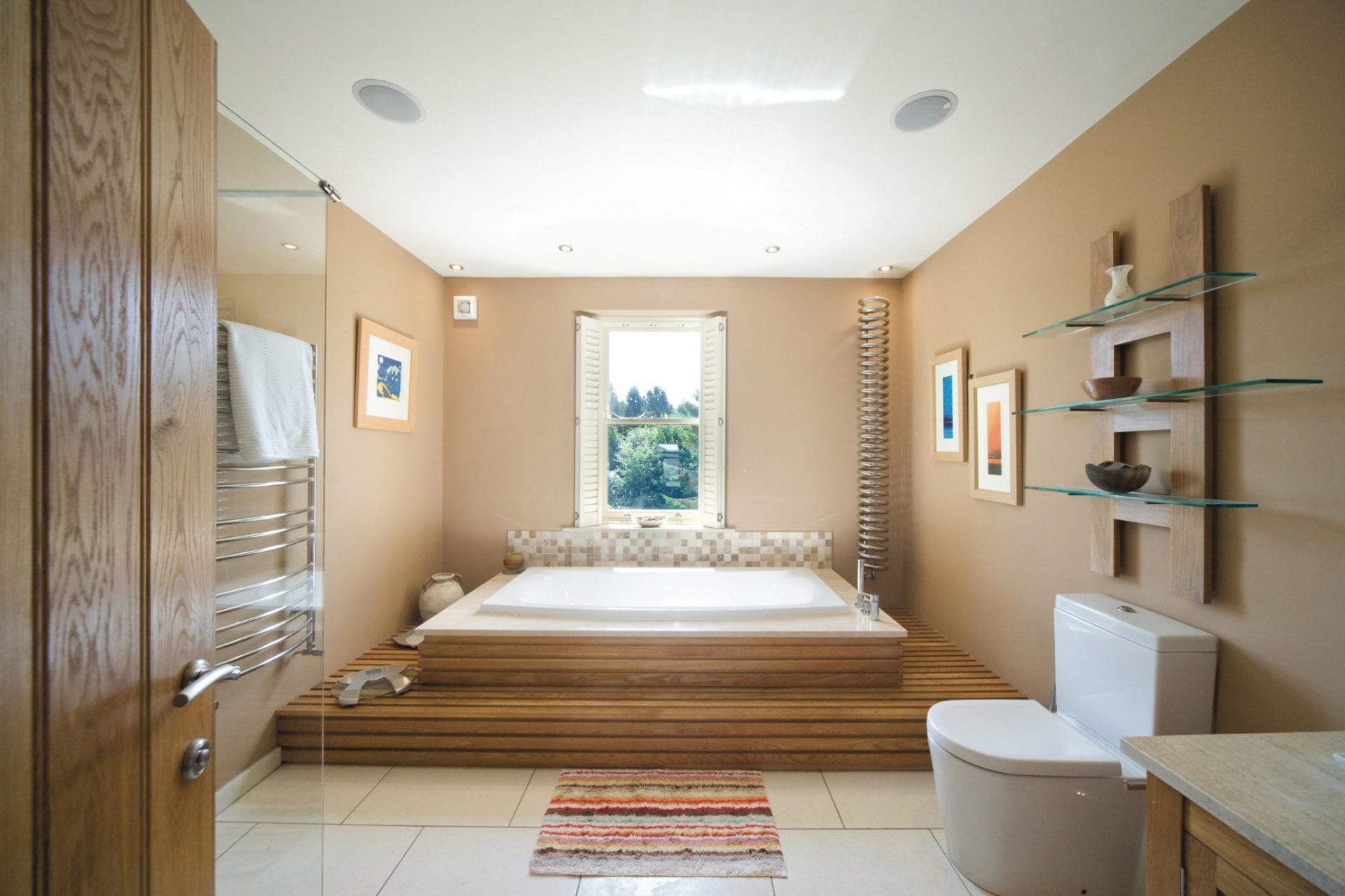 cualquier rincn opta por los pisos escalones vigas o incluso accesorios es mi favorito ya que se ve minimalista sin duda uno de los baos de lujo