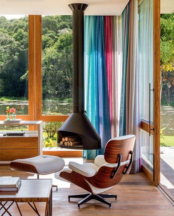 29 cortinas para salon de todas formas y colores estreno - Formas de cortinas ...