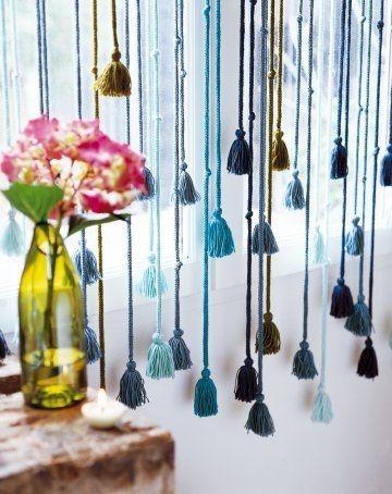 29 cortinas para salon de todas formas y colores estreno - Cortinas originales para dormitorio ...