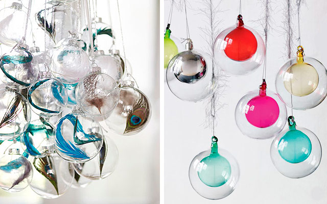 29 fotos de bolas de navidad transparentes estreno casa - Como decorar una bola de navidad ...