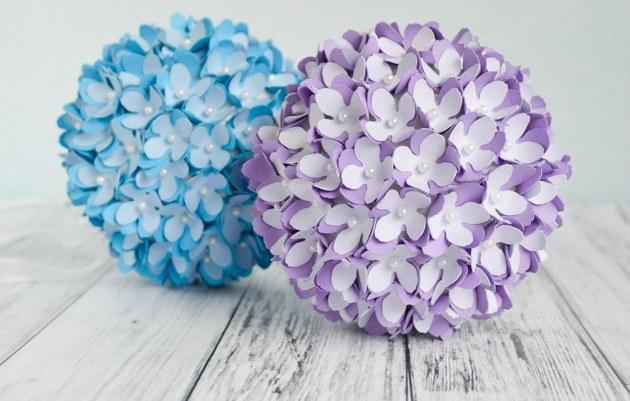 C mo hacer flores de papel ejemplos y fotos estreno casa - Como cuidar una hortensia de exterior ...