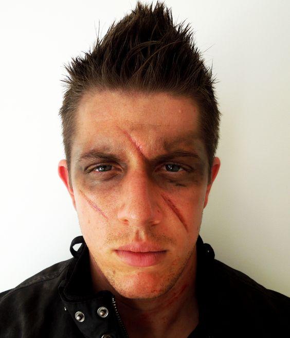 Ideas De Maquillaje De Halloween Para Hombre Estreno Casa - Cara-pintada-para-halloween