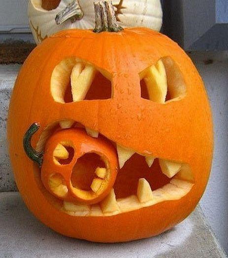 Calabazas decoradas para halloween 21 buenas ideas - Calabazas decoradas ...