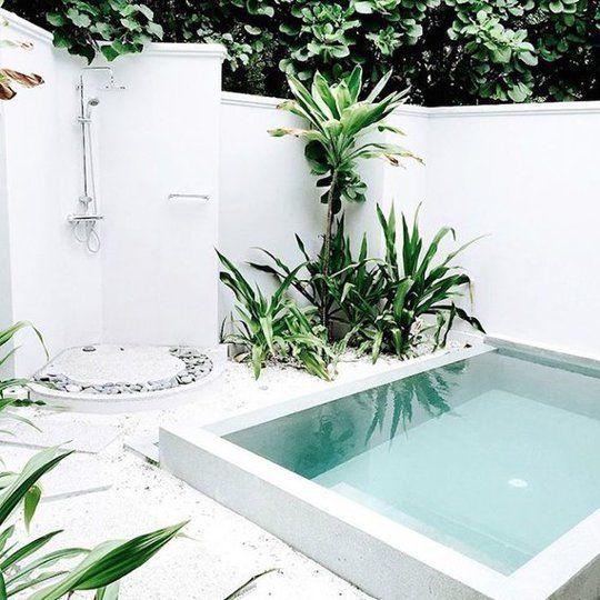 31 ideas de piscinas peque as para terrazas y jardines - Piscinas para patios ...