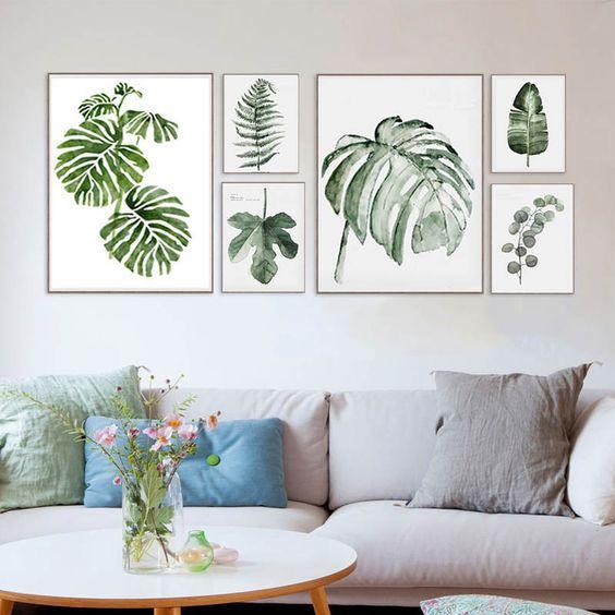 19 cuadros modernos para sal n que te encantar n estreno for Decoracion de paredes con cuadros grandes