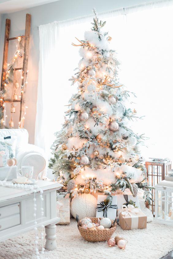 Pinos De Navidad Blancos