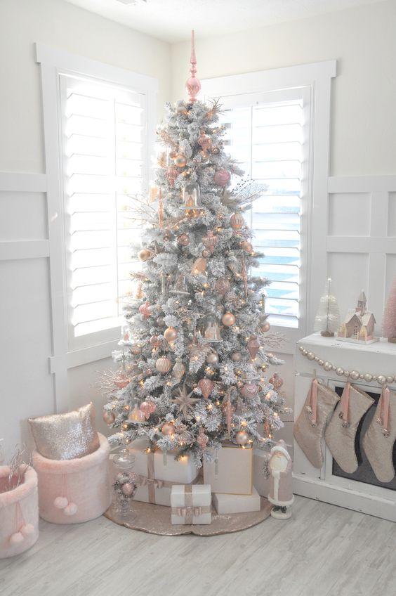 Ideas para decorar arbol blanco navidad y macetas para - Decorar arbol de navidad blanco ...