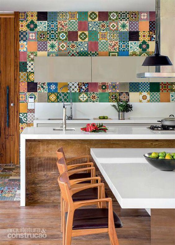 Ideas encantadoras de decoraci n r stica de interiores - Azulejos clasicos ...