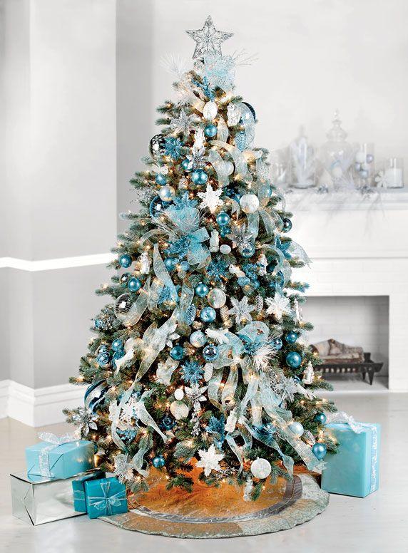 Los m s lindos arboles de navidad para tu hogar estreno casa - Como decorar un arbol de navidad azul ...