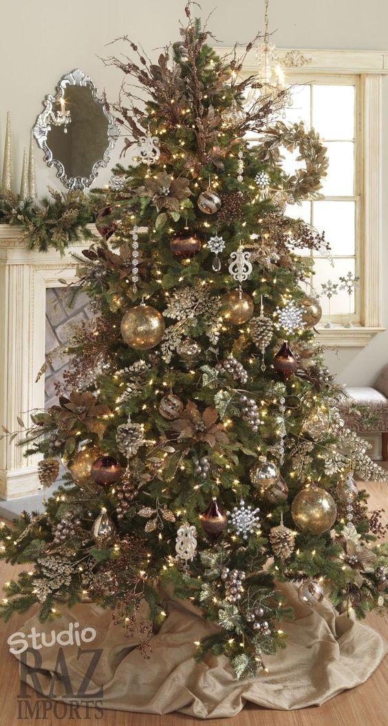 Los m s lindos arboles de navidad para tu hogar estreno casa - Arbol de navidad dorado ...