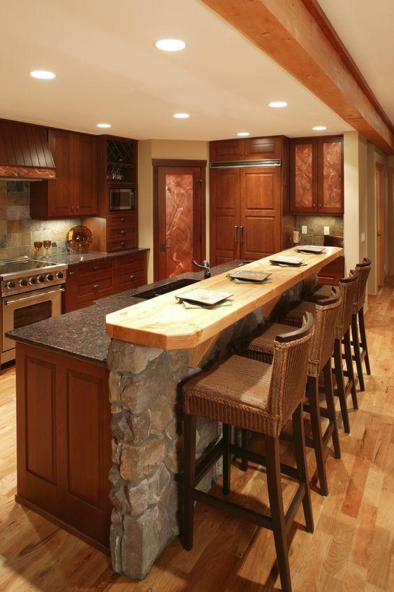 29 imperdibles ideas de cocinas abiertas al sal n - Alta decoracion de interiores ...