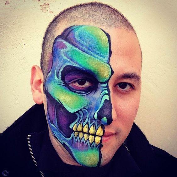 Ideas de maquillaje de halloween para hombre estreno casa for Caras pintadas para halloween