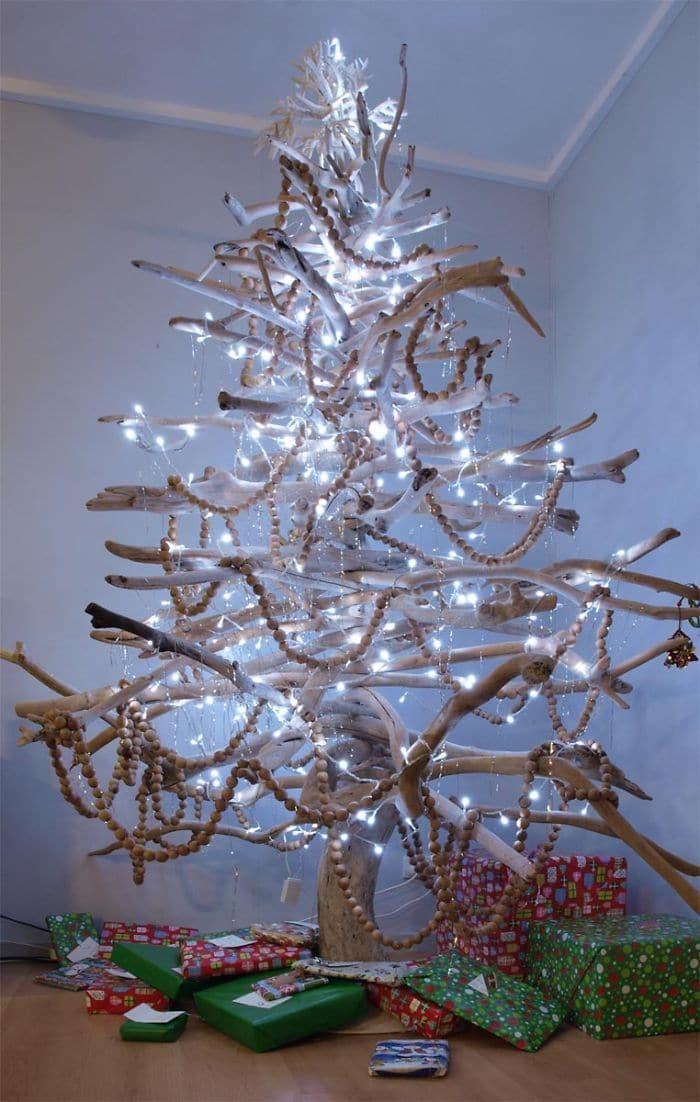 Resultado de imagen para arbol de navidad con ramas naturales