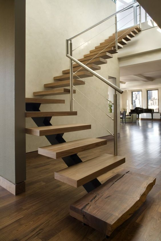 Las m s bellas escaleras de madera para interiores for Escaleras de duplex