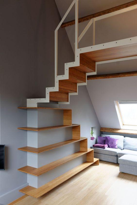 Escaleras espacios reducidos elegant decorar espacios - Escaleras espacios pequenos ...