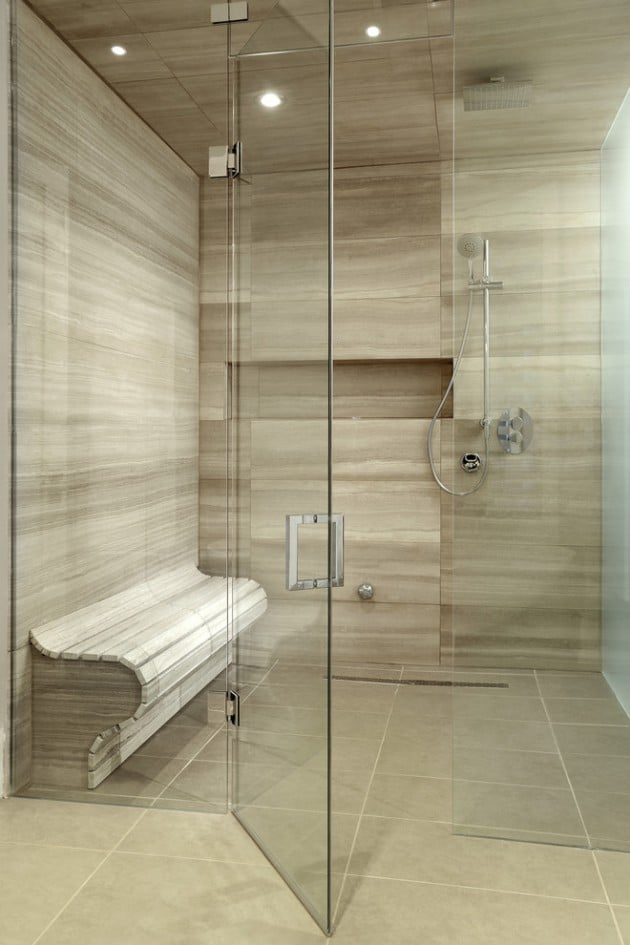 21 duchas modernas para deslumbrar en tu ba o estreno casa - Duchas con asiento ...