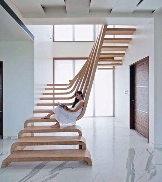 Las Más Bellas Escaleras de Madera Para Interiores - Estreno Casa