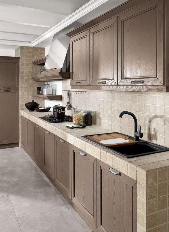 Insp rate con estas cocinas r sticas de obra estreno casa for Cocinas camperas rusticas