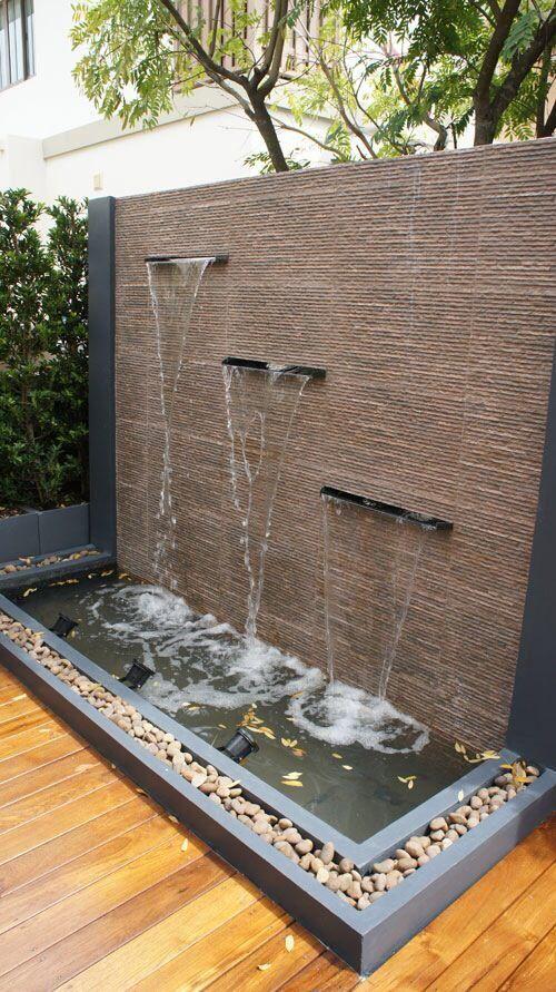 Fuentes de jard n para decorar tu espacio estreno casa for Cascadas para patios