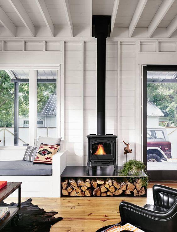 20 tipos de chimeneas que amar s en tu casa estreno casa - Tipos de lena para chimeneas ...