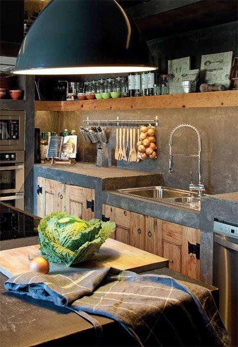 Insp rate con estas cocinas r sticas de obra estreno casa - Cocinas de obra rusticas fotos ...