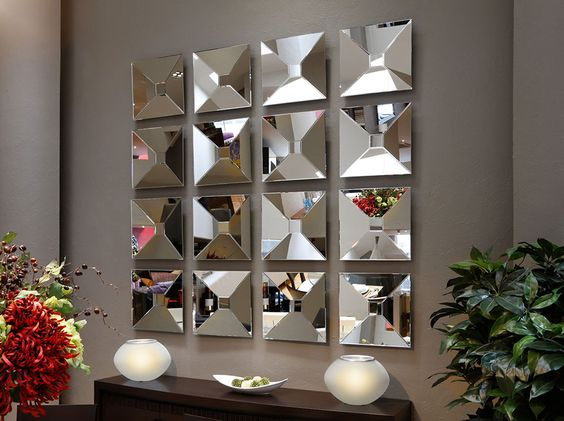 Como decorar con espejos de manera f cil tus espacios for Espejos decorativos blancos