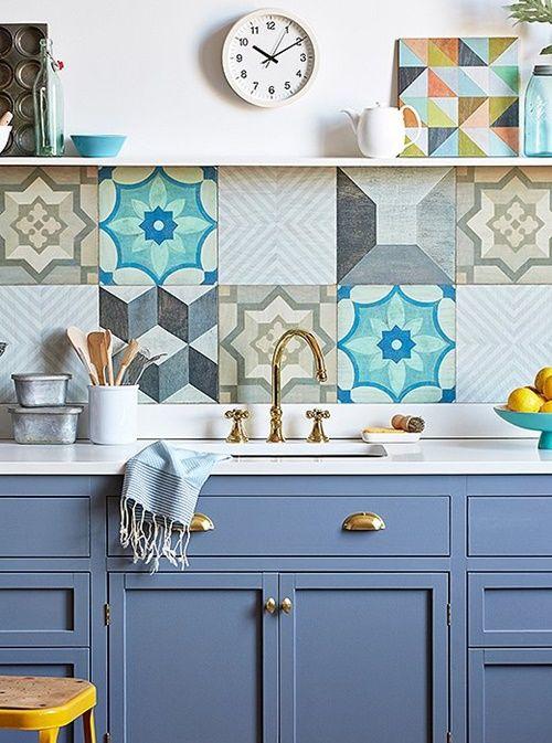 Ideas de cocinas vintage que querr s para la tuya for Ceramica cocina decoracion