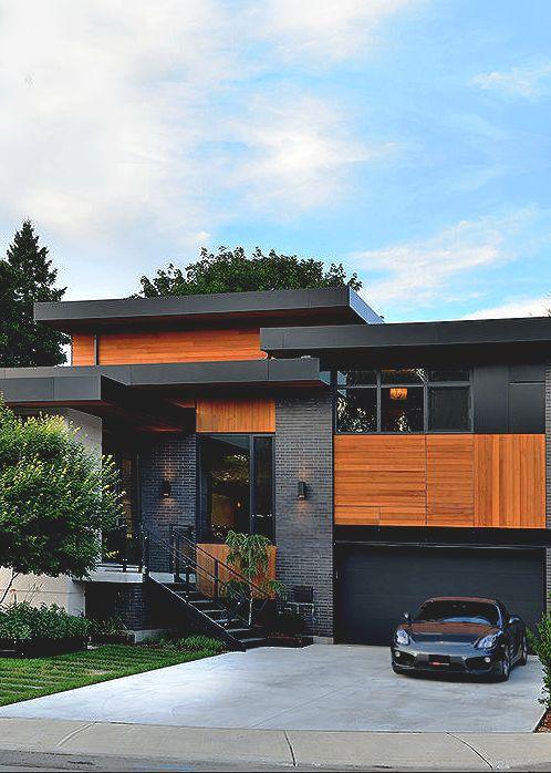 Hermosas fachadas de casas modernas 40 fotos estreno casa for Casa moderna juegos
