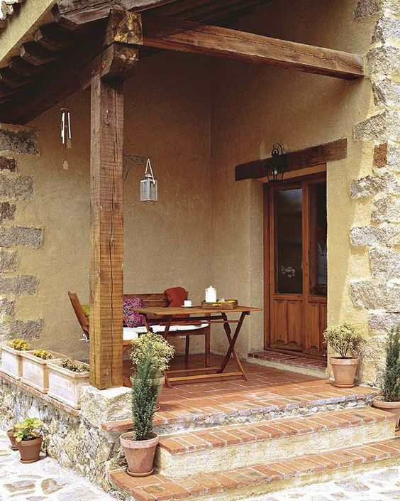 Fachadas de casas r sticas dise os que te encantar n - Que es un porche en arquitectura ...
