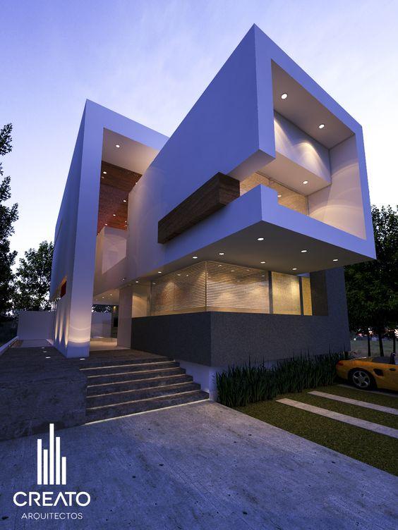 Hermosas fachadas de casas modernas 40 fotos estreno casa for Departamentos arquitectura moderna