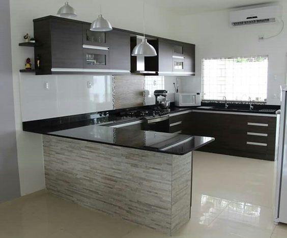 Ejemplos fascinantes de cocinas en u estreno casa for Altura barra cocina