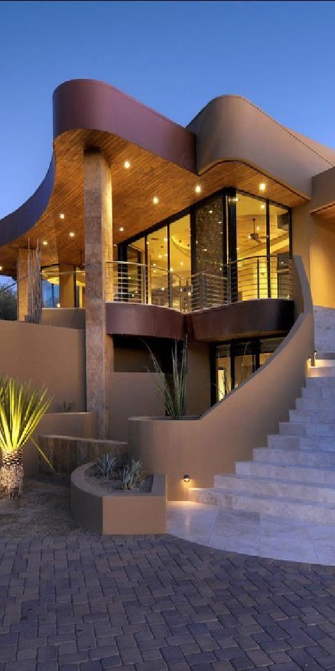 Hermosas fachadas de casas modernas 40 fotos estreno casa for Casa moderna restaurante salta