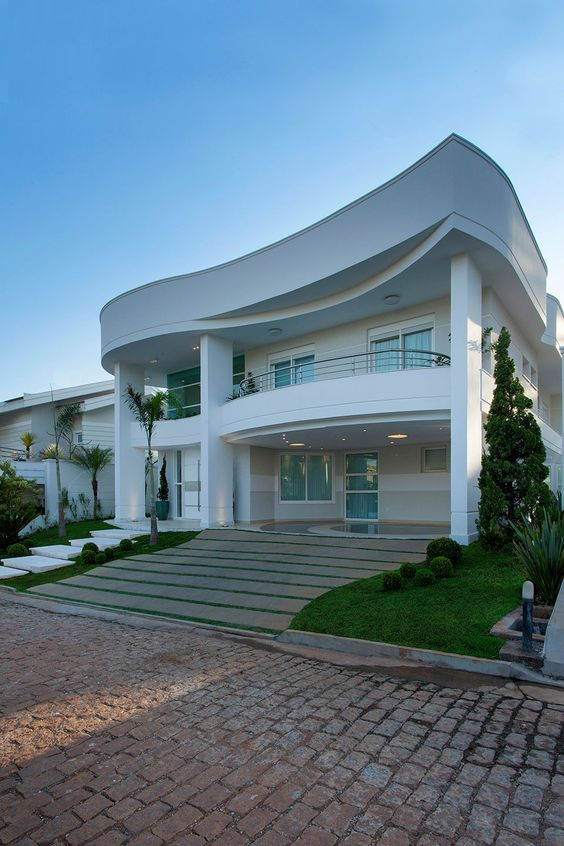 Hermosas fachadas de casas modernas 40 fotos estreno casa for Imagenes casas modernas