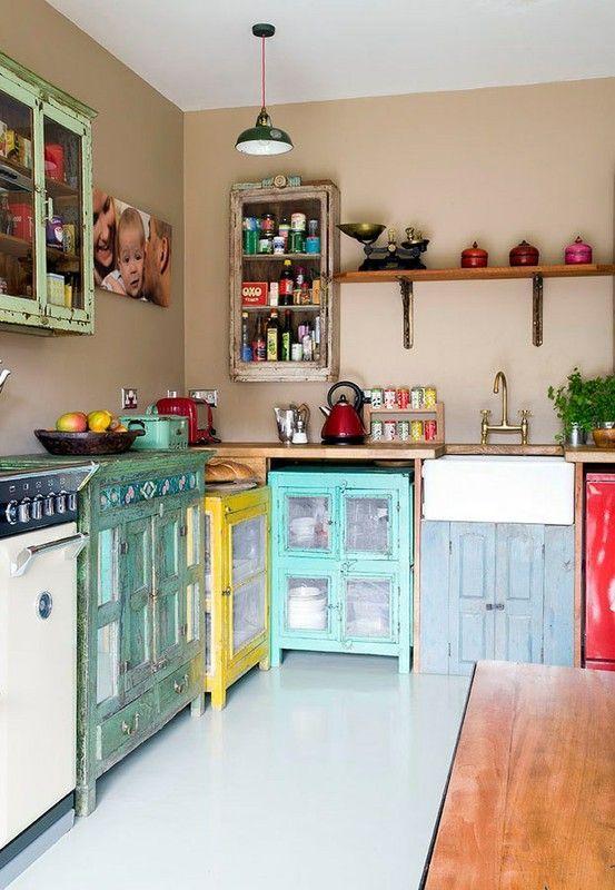 Ideas de cocinas vintage que querr s para la tuya estreno casa - Muebles de cocina retro ...