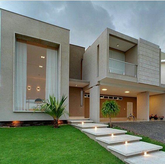 Hermosas fachadas de casas modernas 40 fotos estreno casa for Piscina tubular pequena
