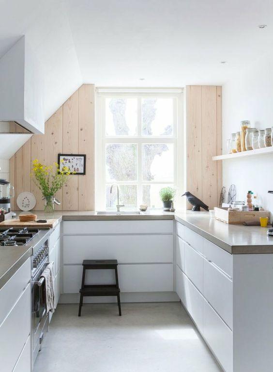 Ejemplos fascinantes de cocinas en u estreno casa - Cocinas en forma de u pequenas ...