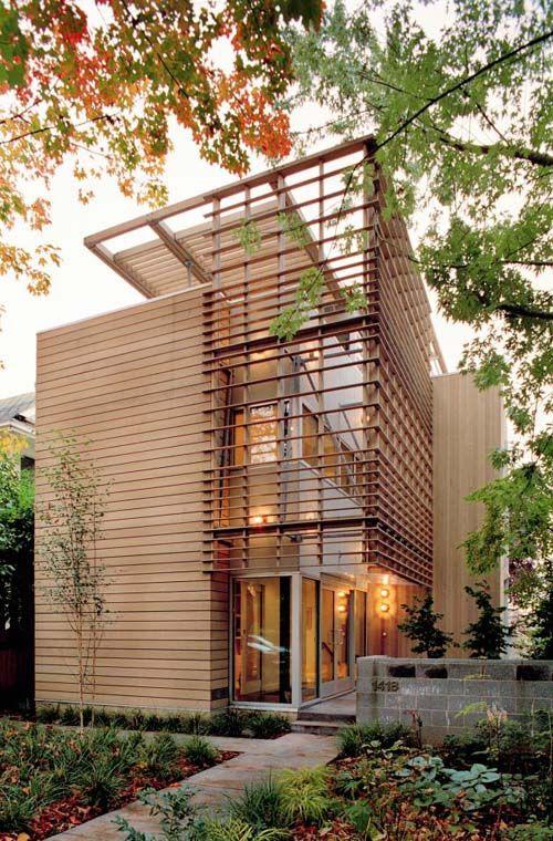Hermosas fachadas de casas modernas 40 fotos estreno casa for Casas de madera modernas