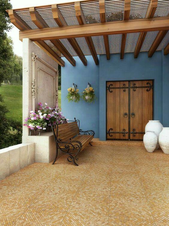 Fachadas de casas r sticas dise os que te encantar n for Vigas de madera para jardin