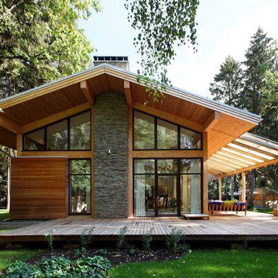 Fachadas de casas r sticas dise os que te encantar n for Casa moderna rustica