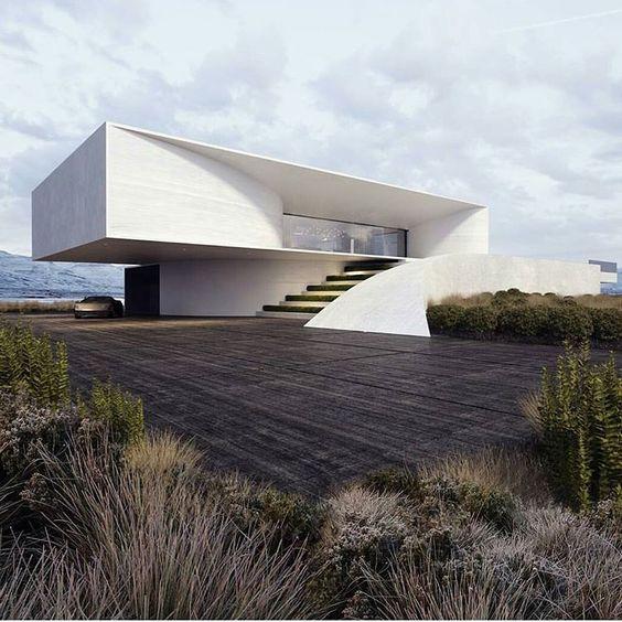 Hermosas fachadas de casas modernas 40 fotos estreno casa for Casa moderna 44 belvedere